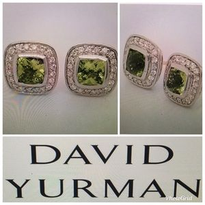 🍃DAVID YURMAN ALBION PERIDOT DIAMOND EARRINGS 🍃